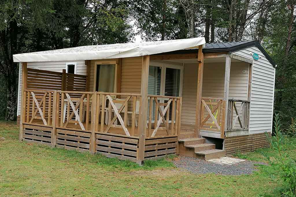 location Mobil Home 6 personnes camping correze